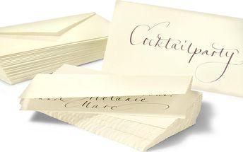 Tchibo, Sada kartiček Nepravidelný okraj, 30 kartiček s obálkami