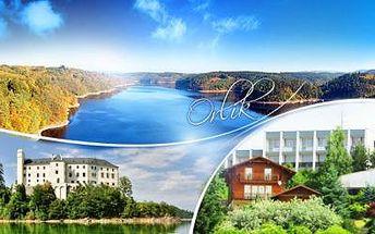 ORLÍK – HOTEL PANORAMA. 6-8denní pobyt pro 2 osoby nebo RODINU přímo u ORLICKÉ PŘEHRADY!