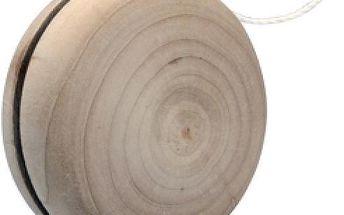 Dřevěné jo-jo s bílou šňůrkou