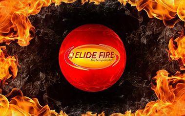 Samohasicí požární míč Elide Fire se zabudovaným alarmem