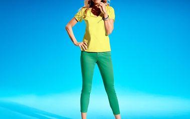 Tchibo, Sedmiosminové kalhoty, zelené Fun Green 36