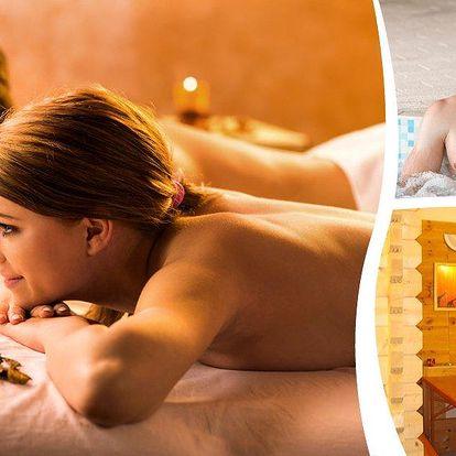 Wellness balíček pro dva. 1 hodina luxusního relaxu ve vířivce a klasická hodinová masáž v Praze.