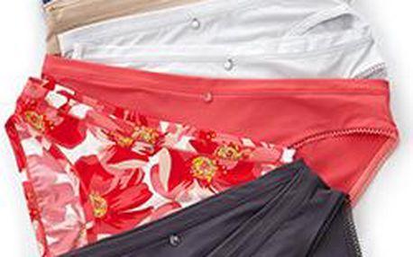 Tchibo, Klasické kalhotky, 2 ks, 1x korálové, 1x korálové s květinovým potiskem S (36/38)