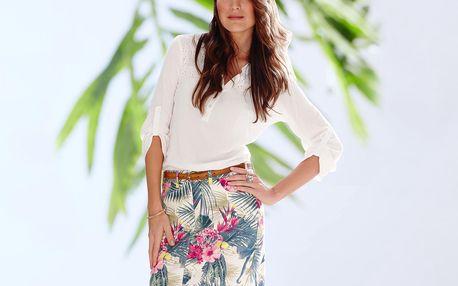 Tchibo, Džínová sukně s tropickým potiskem 36