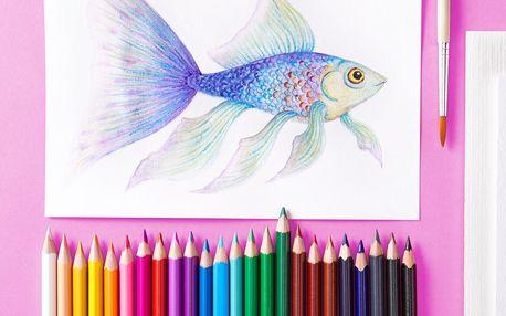 Tchibo, Akvarelové pastelky, 24 ks