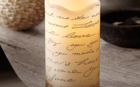 Tchibo, Svíčka z pravého vosku s LED, krémovo-hnědá
