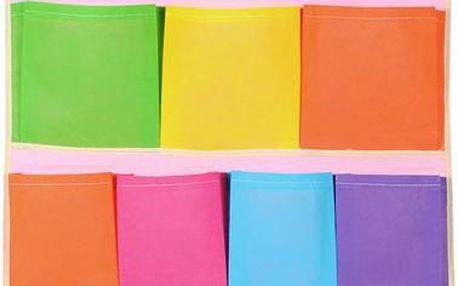 Pestrobarevný kapsář - 12 kapes