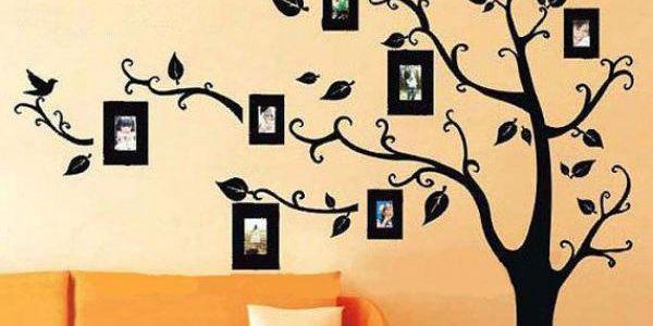 Strom s rámečky na fotografie - samolepka na zeď!