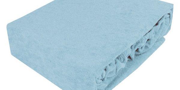 NOVIA Prostěradlo, 180x200cm, froté, Barva Světle modrá