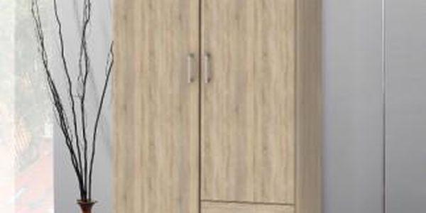 Klasická skříň Space - 2 dveře (dub)