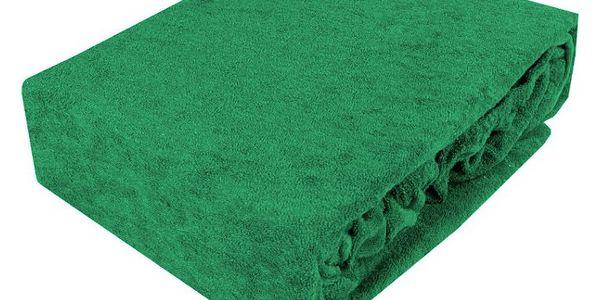 NOVIA Prostěradlo Exklusive, 90x200cm, froté, Barva Mátová zelená