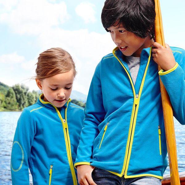 Tchibo, Dětská fleecová bunda, modrá 122/128