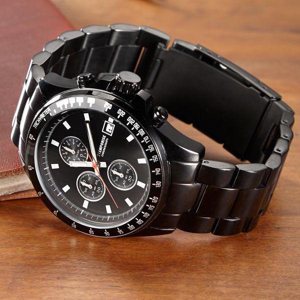 Tchibo, Chronograf z ušlechtilé oceli, černý lesklý