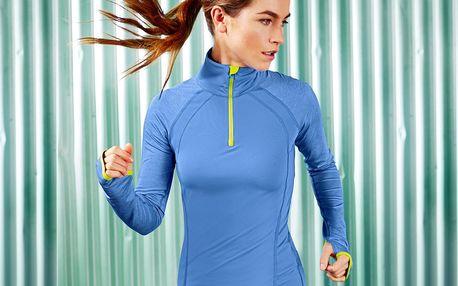 Tchibo, Běžecké triko, světle modré s melírem M (40/42)