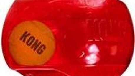 Hračka guma + tenis Jumbler míč Kong medium/large - červená