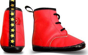 Bobobaby Červené boty z eko-kůže