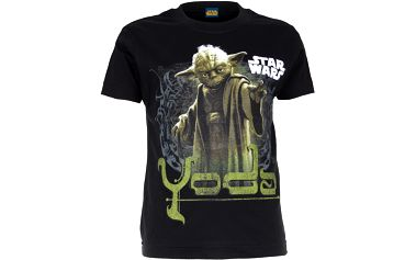 Chlapecké tričko Star Wars Yoda - černé