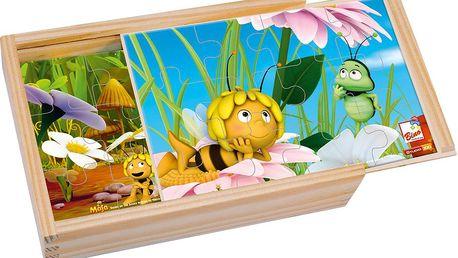 4 puzzle v krabičce - Včelka Mája