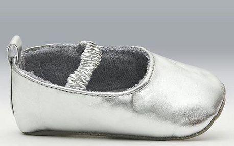 Dívčí metalické capáčky - stříbrné