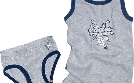 Chlapecké spodní prádlo - set - šedý
