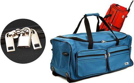 Cestovní taška s teleskopickým madlem, kolečky a objemem cca 100 litrů ve 3 barvách