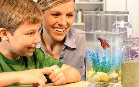 Akvárium My Fun Fish se snadným čištěním a údržbou