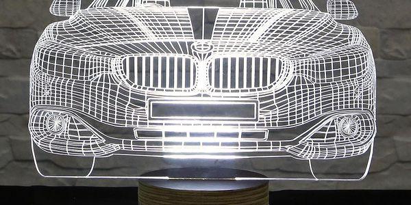 3D stolní lampa Cool Car - doprava zdarma!