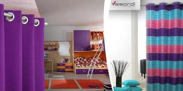 Kvalitní italský závěs Vesardi do oken i dveří v 90 barvách