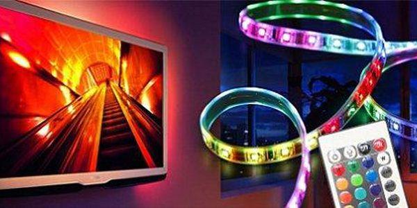 Profi LED pásek 5 m, veliký výběr barev včetně studené bílé, 5A zdroj, adaptér pro nastavení