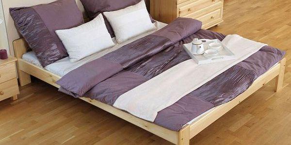 Dřevěná manželská postel Gerard