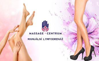 90min. RUČNÍ LYMFODRENÁŽ nohou od certifikované lymfoterapeutky!