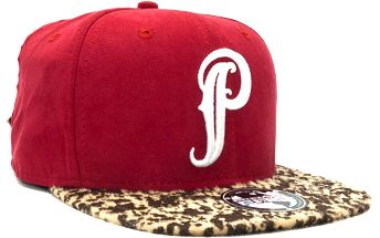 Kšiltovka Premier Fits Tribal P Red Suede Style/Pony Hair Strapback