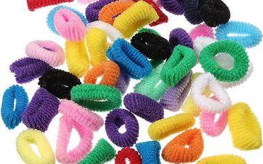 50 kusů gumiček bez kovových ozdob