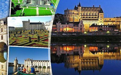 Zájezd do Francie pro jednoho s ubytováním. Návštěva Paříže, zámků na Loiře a krásných zahrad!!
