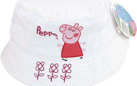 Dívčí bílý klobouček Peppa Pig