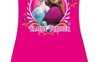 Dívčí šaty Frozen - růžové