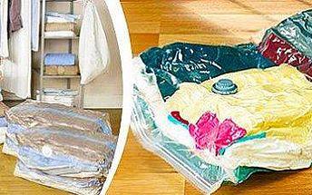 6 vakuových pytlů ke skladování oblečení: ušetříte až 75 % prostoru! 2 rozměry.