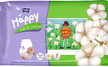 baby čistící ubrousky hedvábí a bavlna 4x64 ks