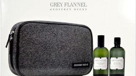 Toaletní voda Geoffrey Beene Grey Flannel Edt 120ml + 120ml voda po holení + kosmetická taška