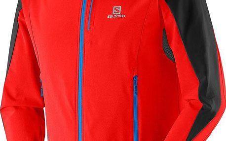 Salomon Momemtum Softshell Jacket M, červená, M