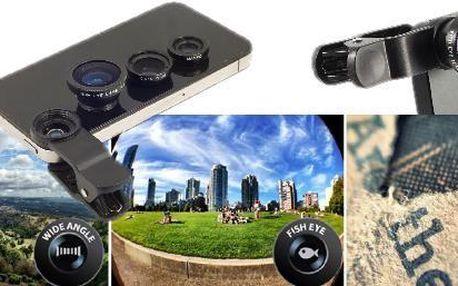 Přídavné objektivy 3v1 jsou vynikajícím doplňkem pro smartphony. Po propojení těchto přídavných objektivů se z Vašeho smartphonu stane plnohodnotný fotoaparát.