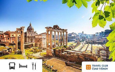 7denní poznávací zájezd do Říma – doprava a ubytování se snídaní v ceně!