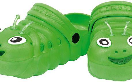 Dětské sandály Housenka - zelené