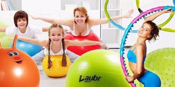 Gymnastické míče a obruče Hula Hoop
