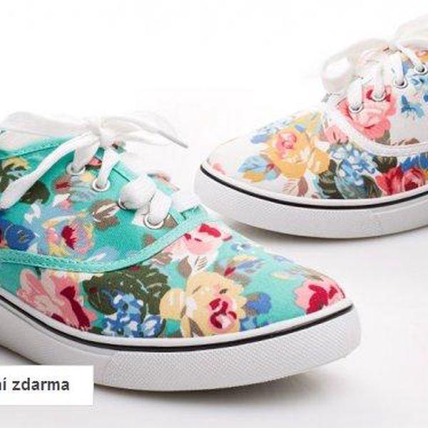 Dámská květovaná letní obuv