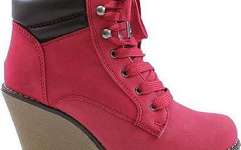 SISICODE Kotníčkové boty na klínku 67288R 37