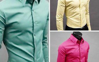 Pánská bavlněná slim fit košile Luxury!