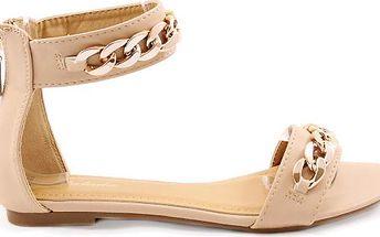 Sandálky s řetězem Y423BE 39