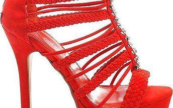 Oranžové sandálky PA137R 40