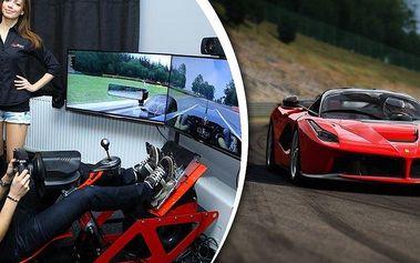 Nová dimenze 3D automobilových závodních simulátorů! Využijte 3 závodní automobilové simulátory.